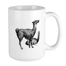 Red Nosed Llamas Mug