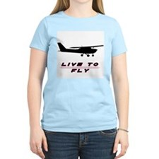 """Live to Fly"" Women's Pink T-Shirt"