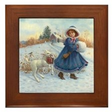 MARY HAD A LITTLE LAMB Framed Tile