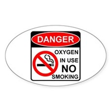 Oxygen in Use Oval Decal