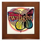 New Moon Butterfly Heart Framed Tile