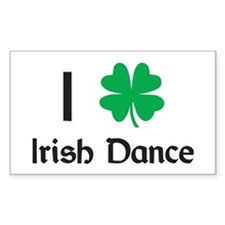 Irish Dance Rectangle Decal
