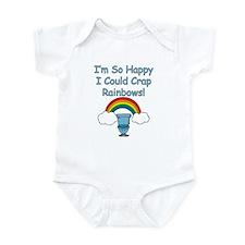 Crap Rainbows Infant Bodysuit