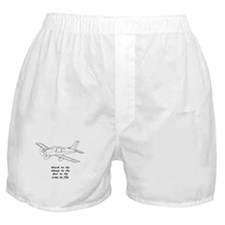 "Airplane ""...to fly"" Boxer Shorts"