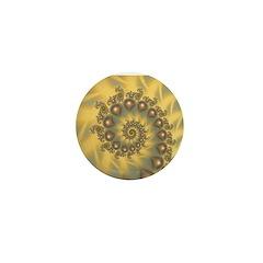 Golden Fiddle Fractal Mini Button