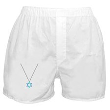 Star Of David Necklace Boxer Shorts