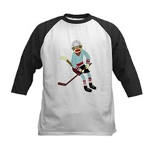 Sock Monkey Ice Hockey Player Tee