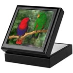 Eclectus Pair Digital Oil Keepsake Box