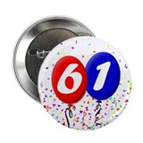 61st Birthday Button