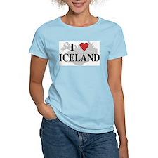 I Love Iceland Women's Pink T-Shirt