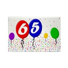 65th Birthday Rectangle Magnet (100 pack)