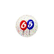 65th Birthday Mini Button (100 pack)
