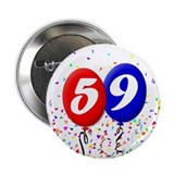 "59th Birthday 2.25"" Button (100 pack)"