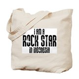 Rock Star In Indonesia Tote Bag