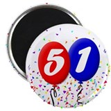 "51st Birthday 2.25"" Magnet (10 pack)"