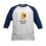Geocache Chick Kids Baseball Jersey