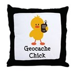 Geocache Chick Throw Pillow
