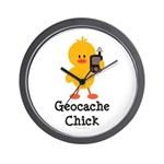 Geocache Chick Wall Clock