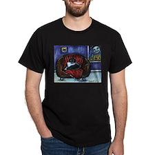 Cool Tuxedo cat art T-Shirt