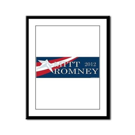 Mitt Romney 2012 Framed Panel Print