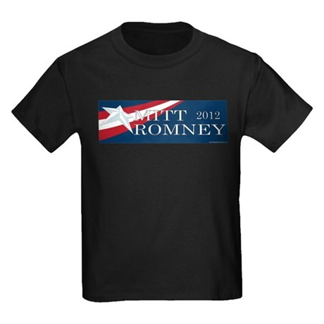 Mitt Romney 2012 Kids Dark T-Shirt