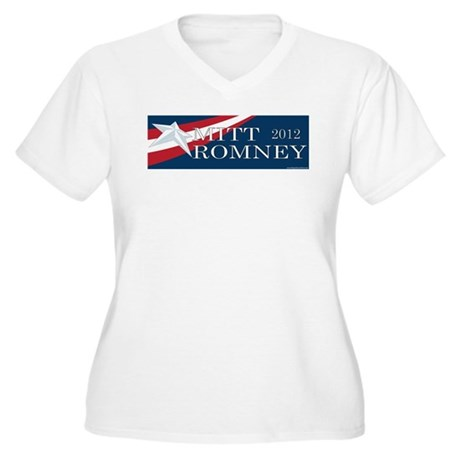 Mitt Romney 2012 Women's Plus Size V-Neck T-Shirt