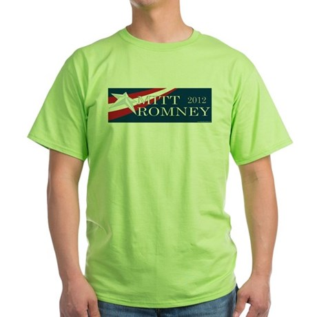 Mitt Romney 2012 Green T-Shirt
