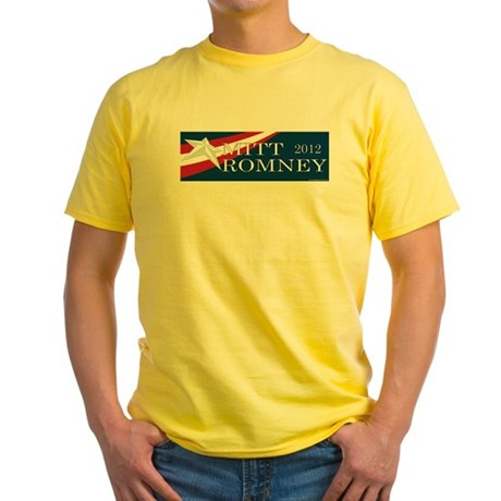 Mitt Romney 2012 Yellow T-Shirt
