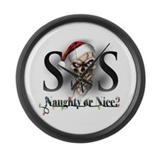Cute Santa sack Large Wall Clock
