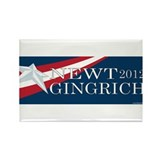 Newt Gringrich 2012 Rectangle Magnet (100 pack)
