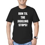 Jiggle Stopper Men's Fitted T-Shirt (dark)