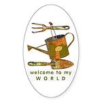 Garden Tools Oval Sticker