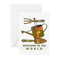 Garden Tools Greeting Cards (Pk of 10)