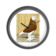 WOE Red Bald Pigeon Wall Clock
