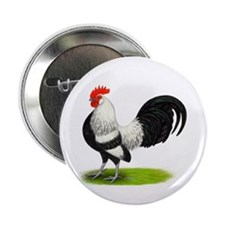 "Dutch Silver Rooster 2.25"" Button (100 pack)"