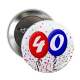 "40th Birthday 2.25"" Button (10 pack)"