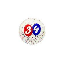 34th Birthday Mini Button