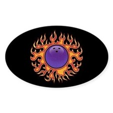 Bowling Ball-o-Fire Oval Decal