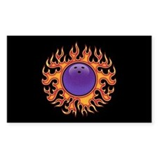 Bowling Ball-o-Fire Rectangle Decal