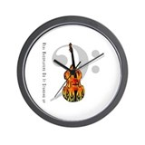 Real Bass Players Do It Stand Wall Clock
