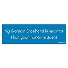 German Shepherd/Honor Student Bumper Bumper Sticker