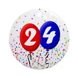 24th Birthday Ornament (Round)