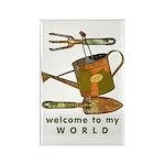 Garden Tools Rectangle Magnet (100 pack)