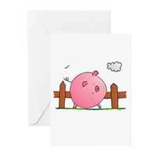 Greeting Cards (Pk of 20) Pig Blank inside