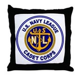 Navy League Color Throw Pillow