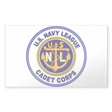 Navy League Color Rectangle Bumper Stickers