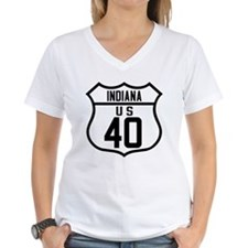 Route 40 Shield - Indiana Shirt
