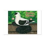 Saxon Swallow Pigeon Mini Poster Print