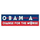 Change for the Worse Bumper Bumper Sticker