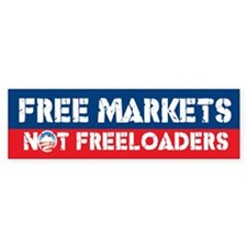 Free Markets Bumper Car Sticker